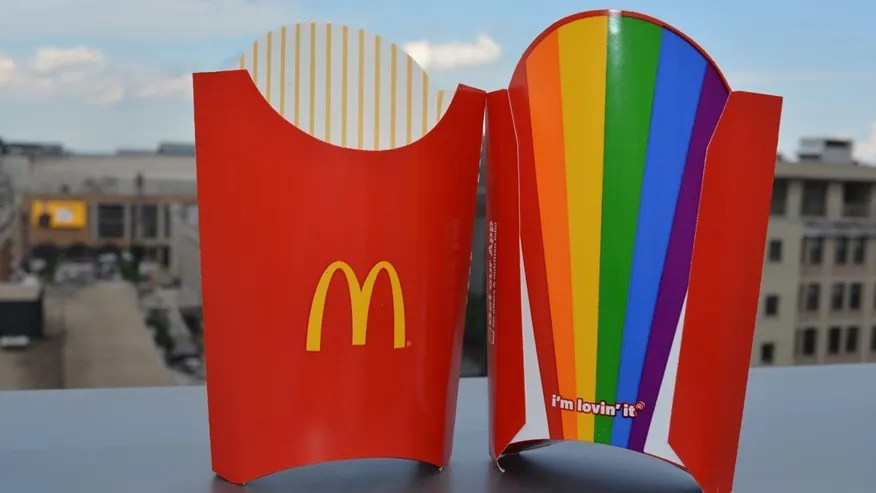 Some McDonald's locations in D.C. are showing their support for the LQBTQ community with new fry boxes.