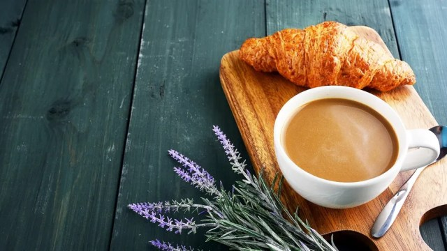 Coffee and bread apparently don't qualify for the most important meal of the day.