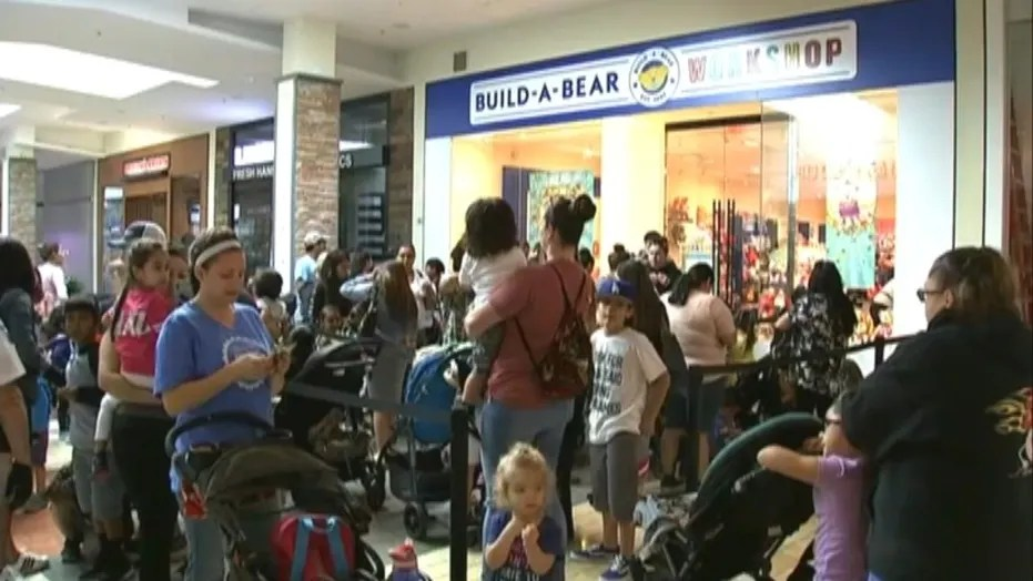 "Build-A-Bear was forced to turn customers away after its ""Pay Your Age"" promotion drew in huge crowds in locations across the country that local authorities couldn't control."