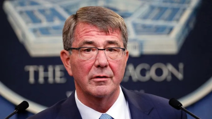 In this June 30, 2016, file photo, Defense Secretary Ash Carter speaks during a news conference at the Pentagon.