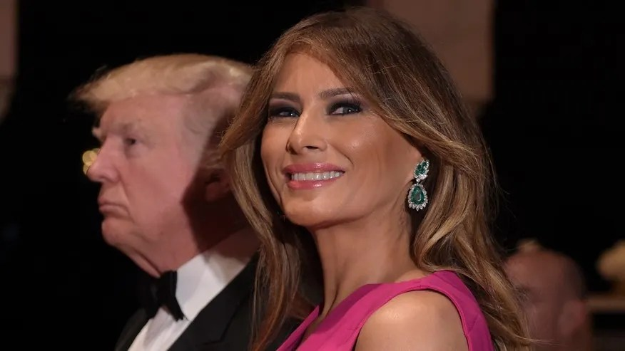 Feb. 4, 2017: President Donald Trump and first lady Melania Trump arrive for the 60th annual Red Cross Gala at Trump's Mar-a-Lago resort in Palm Beach, Fla.