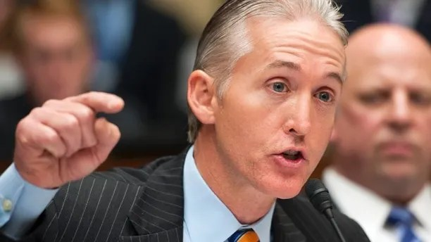 FILE: May 8, 2014: Rep. Trey Gowdy, R-S.C., questions a witness during the House Oversight and Government Reform Committee's hearing on Benghazi on Capitol Hill in Washington, D.C.