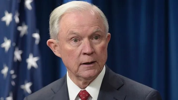 "FILE - In this March 6, 2017, file photo, Attorney General Jeff Sessions speaks at the U.S. Customs and Border Protection office in Washington. The Justice Department says Sessions recused himself from the Russia investigation only because he was involved in President Donald Trump's campaign. In a statement on June 8, spokesman Ian Prior says ""it was for that reason, and that reason alone"" that Sessions decided to step aside from the probe. The statement doesn't mention Sessions' undisclosed contacts with Russia's ambassador. (AP Photo/Susan Walsh, File)"