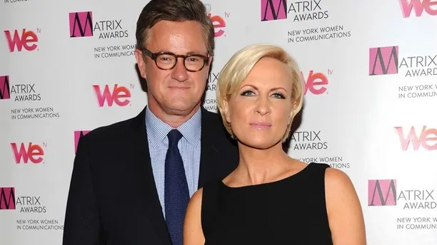 """In this Monday April 22, 2013, file photo, MSNBC's """"Morning Joe"""" co-hosts Joe Scarborough and Mika Brzezinski, right, attend the 2013 Matrix New York Women in Communications Awards at the Waldorf-Astoria Hotel in New York. MSNBC confirmed Thursday, May 4, 2017, that the """"Morning Joe"""" co-hosts are engaged."""