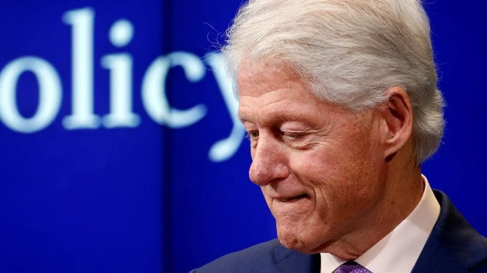 "Former President Bill Clinton pauses while speaking at a Brookings Institution forum to discuss the book ""Yitzhak Rabin: Soldier, Leader, Statesman"" in Washington, U.S., March 9, 2017."