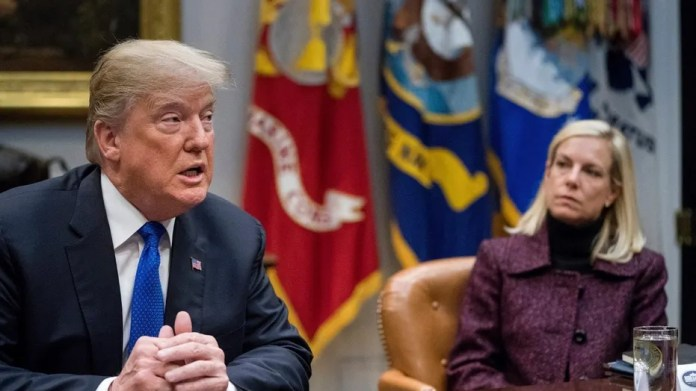 President Trump (left) and Homeland Security Kirstjen Nielsen (right) faced a deadline on whether to extend special protections for certain Salvadoran immigrants. DHS confirmed that it is ending Temporary Protected Status for immigrants from El Salvador, forcing nearly 200,000 to leave the country or face deportation.