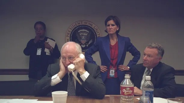 "U.S. Vice President Dick Cheney is pictured with Chief of Staff I. Lewis ""Scooter"" Libby (R) in the President's Emergency Operations Center in Washington in the hours following the September 11, 2001 attacks in this U.S. National Archives handout photo obtained by Reuters July 24, 2015. REUTERS/U.S. National Archives/Handout via Reuters (MILITARY POLITICS DISASTER) THIS IMAGE HAS BEEN SUPPLIED BY A THIRD PARTY. IT IS DISTRIBUTED, EXACTLY AS RECEIVED BY REUTERS, AS A SERVICE TO CLIENTS. FOR EDITORIAL USE ONLY. NOT FOR SALE FOR MARKETING OR ADVERTISING CAMPAIGNS - TM3EB7O1MS301"