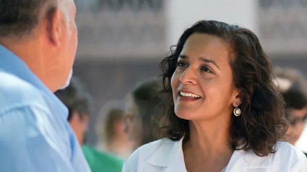 This June 28, 2017 photo shows candidate Hiral Tipirneni, one of two Democrats running in the 8th Congressional District's special election on Tuesday, Feb. 27, 2018, to replace former Rep. Trent Franks, in Arizona. The leading Republicans among a dozen candidates in the GOP stronghold 8th Congressional District that covers much of the western Phoenix suburbs include two former state senators, two former state House members and a talk radio host who pulled in 29 percent of the vote in a 2016 primary challenge to Franks. Two Democrats are seeking their party's nomination, hoping to pull out a longshot win in the April 27 general election. (Celina Medina via AP)