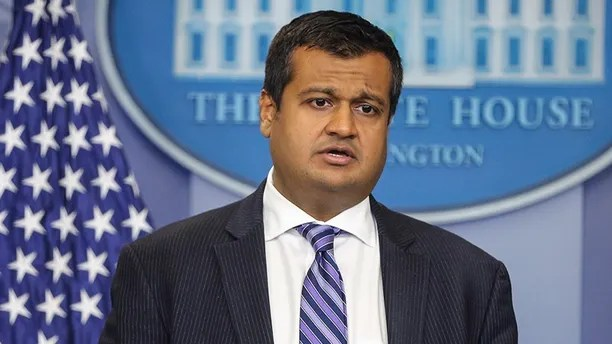 Principal Deputy Press Secretary Raj Shah speaks during the daily press briefing in the Brady Press Briefing Room at the White House on May 14, 2018 in Washington, DC. (Photo by Oliver Contreras/SIPA USA)(Sipa via AP Images)
