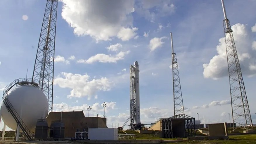 April 30, 2012: A SpaceX spacecraft stands at Space launch Complex 40 at Cape Canaveral Air Force Station, Fla., during a wet dress rehearsal ahead of the launch of a demonstration mission to the International Space Station.