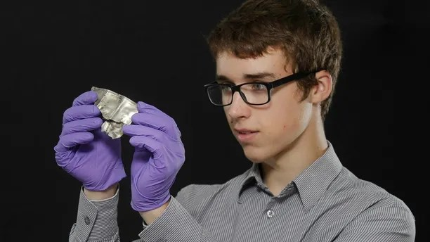 1st time free use- No sales, syndication or archive Metal detectorist David Hall, 16, examines a fragment of the Dairsie Hoard, a hoard of Roman era silver he unearthed in Fife. The hoard, which dates to the 3rd century AD, is currently being conserved and analysed before it goes on display from October in an exhibition, ScotlandÕs Early Silver, at the National Museum of Scotland in Edinburgh. It is the earliest recorded example of ÔhacksilverÕ, objects literally hacked into pieces, converted from beautiful treasures into raw silver bullion. Archaeologists think this silver came to Fife as a gift or payment from the Roman world. The Romans could not just rely on the strength of their army Ð they also used diplomatic efforts to secure the empireÕs borders by buying off surrounding tribes.  Neil Hanna Photography www.neilhannaphotography.co.uk 07702 246823