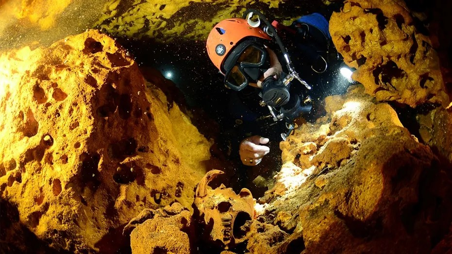 Image result for Earth's biggest underwater cave discovered in Mexico