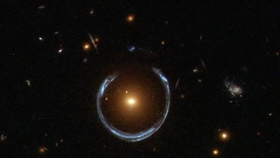 The Hubble Space Telescope captured the gravitational lens from galaxy LRG 3-757.