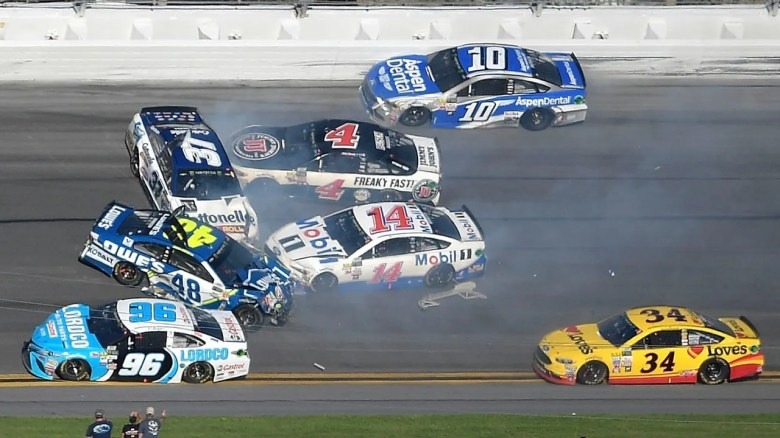 Daytona 500 crashes take Kyle Busch, Dale Jr., and Johnson out of race | Fox News