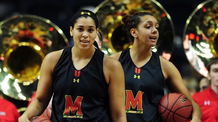 Brionna Jones (left, seen here in 2014) is one of two WNBA players who have been denied visas for entry into Turkey with their Russian team after a diplomatic dispute between the United States and Turkey.