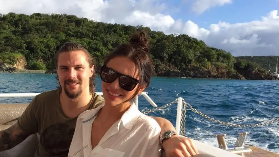 The wife of Ottawa Senators captain Erik Karlsson, right, claims that her the fiancee of her husband's teammate cyberbullied her months.
