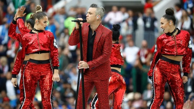Image result for Russia 2018: Robbie Williams stars in opening ceremony