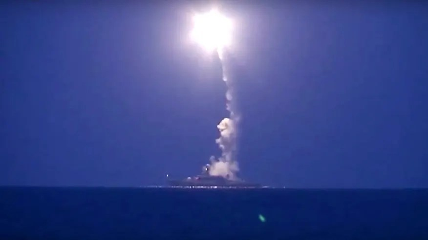 Image result for russian ships launching cruise missiles, photos