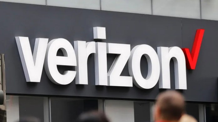 File photo: In this Tuesday, May 2, 2017, photo, Verizon corporate signage is captured on a store in Manhattan's Midtown area, in New York. (AP Photo/Bebeto Matthews)  (Copyright 2017 The Associated Press. All rights reserved.)