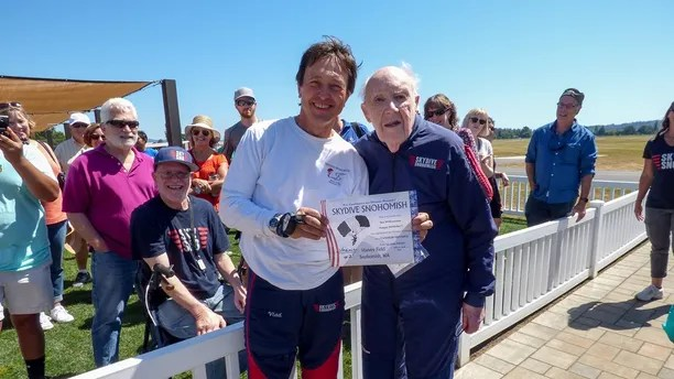 100 yr old skydiver