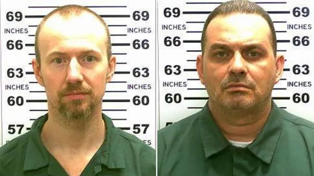 FILE - At left, in a May 21, 2015, file photo released by the New York State Police is David Sweat. At right, in a May 20, 2015, file photo released by the New York State Police is Richard Matt. An investigation into the escape of the two murderers from the northern New York prison last year concludes chronic staff complacency, complicit employees and failures of basic security procedures were to blame. State Inspector General Catherine Leahy Scott's report released Monday, June 6, 2016 about the breakout of Sweat and Matt says security lapses at the maximum-security Clinton Correctional Facility at Dannemora were longstanding. (New York State Police via AP, File)
