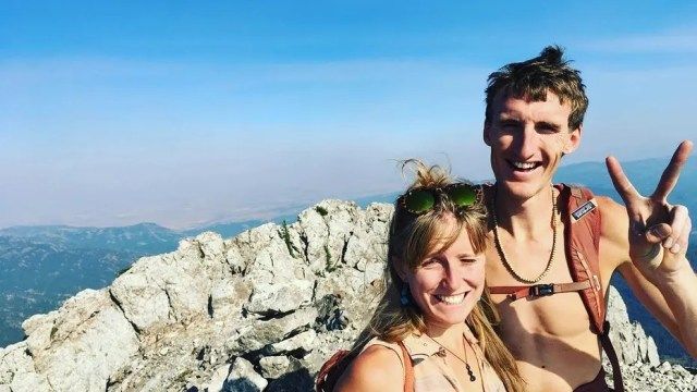 Renowned climber Hayden Kennedy, 27, (left) killed himself following the death of his girlfriend Inge Perkins, 23, in an avalanche in Montana on Saturday. (Inge Perkins/Instagram)