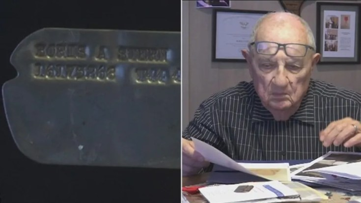 A dog tag Boris Stern, 92, lost days before the Battle of the Bulge was returned to him 73 years later.