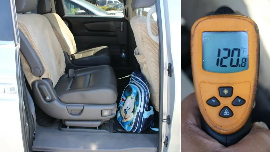 A babysitter left a child in a car in Alhambra, Calif. when the vehicle's interior reached 120 degrees, police said.