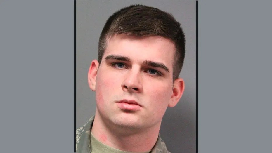 Mugshot of Zepplin Taylor-McGinness, a 21-year-old Airman from Dover Air Force Base who was sentenced to jail for raping a 14-year-old runaway.