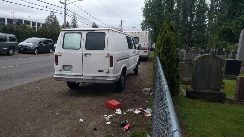 The Bikur Cholim cemetery in Seattle has dealt with an influx of trash from RVs parked nearby in the past two years.