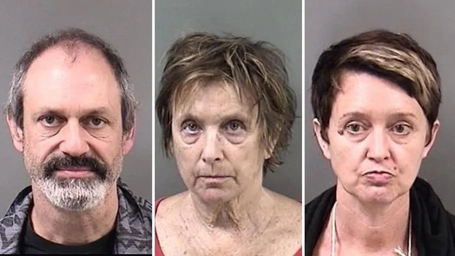 Berkeley Police announced the arrests on Sunday of three protesters on weapon possession charges: (left to right) Jason Wallach, 41, Kate Brenner, 69, and Kristen Edith Koster, 50. (Berkeley Police Department)