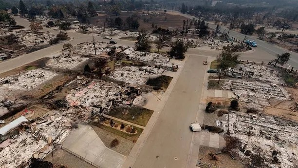 "Photos of the aftermath of ""Fire Tornado"" in Redding California"