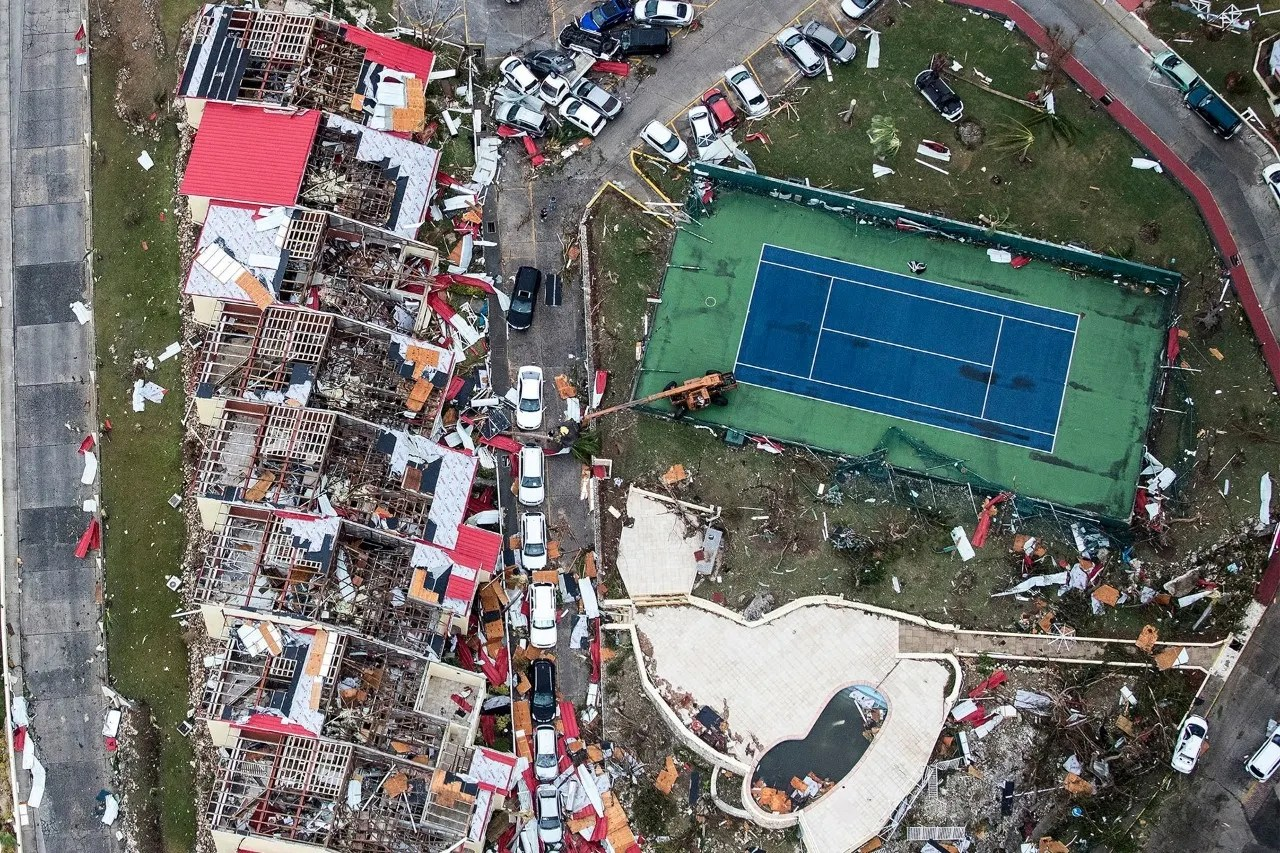 Aftermath of Hurricane Irma on Sint Maarten, Dutch part of Saint Martin island in the Caribbean, Wednesday