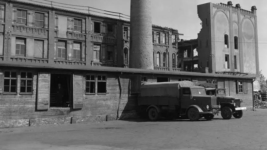 """This photo from the U.S. Army Signal Corps taken during World War II shows a bakery in Nuremberg, Germany, which supplied bread to Stalag 13, seven miles away. In mid-April, over 2,200 prisoners at the camp were stricken with arsenic poisoning from arsenic coated on the loaves given to the prisoners. Full and empty bottles of the toxicant were found under the floor of the facility. Seventy years after the most daring attempt of Jewish Holocaust survivors to seek revenge, the leader of the plot has only one simple regret _ that to his knowledge he didn't actually succeed in killing any Nazis. Joseph Harmatz is one of the few remaining Jewish """"Avengers"""" who carried out a mass poisoning of former SS men in an American prisoner-of-war camp in 1946 after World War II. The poisoning sickened more than 2,200 Germans but ultimately caused no known deaths. (U.S. Army Signal Corps via AP)"""