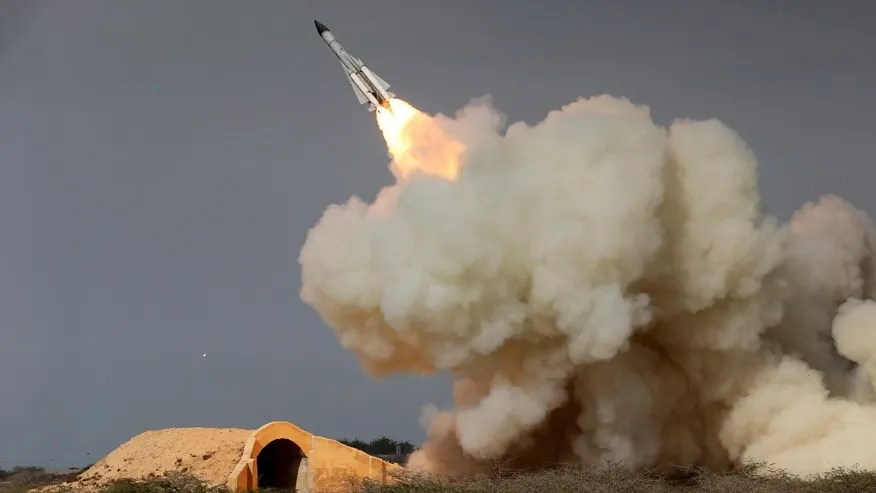Dec. 29, 2016, photo, released by the semi-official Iranian Students News Agency (ISNA), shows long-range S-200 missile fired in a military drill in the port city of Bushehr, on the northern coast of Persian Gulf, Iran.