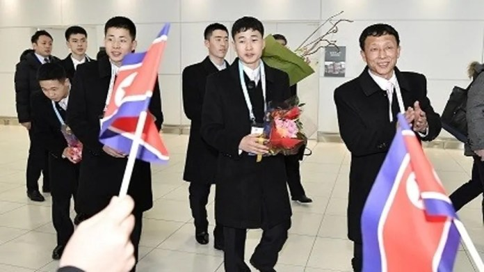 North Korean athletes prepare to take part in the 2017 Asian Winter Games in Japan.