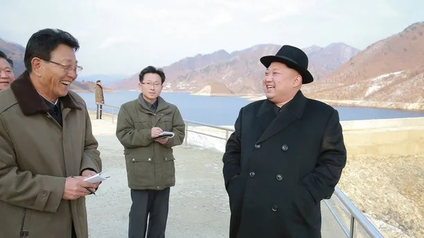 North Korean leader Kim Jong Un visits the Wonsan Army-People Power Station in this undated photo released by North Korea's Korean Central News Agency (KCNA) in Pyongyang December 13, 2016. KCNA via REUTERS     ATTENTION EDITORS - THIS IMAGE WAS PROVIDED BY A THIRD PARTY. EDITORIAL USE ONLY. REUTERS IS UNABLE TO INDEPENDENTLY VERIFY THIS IMAGE. NO THIRD PARTY SALES. NOT FOR USE BY REUTERS THIRD PARTY DISTRIBUTORS. SOUTH KOREA OUT. - RC1102DED480