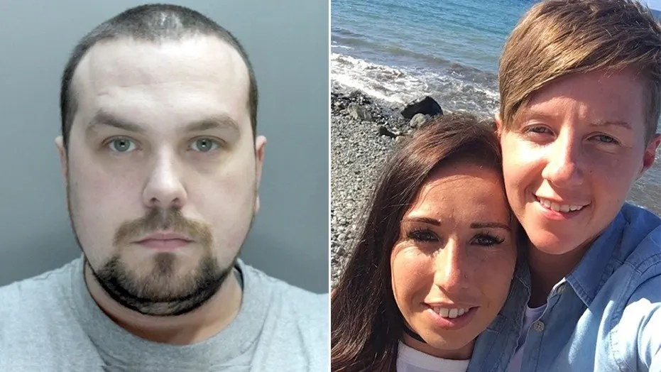 Andrew Burke, left, has been sentenced to 26 years in prison for killing Cassie Hayes, right, who was in a relationship with his ex-girlfriend, Laura Williams, center.
