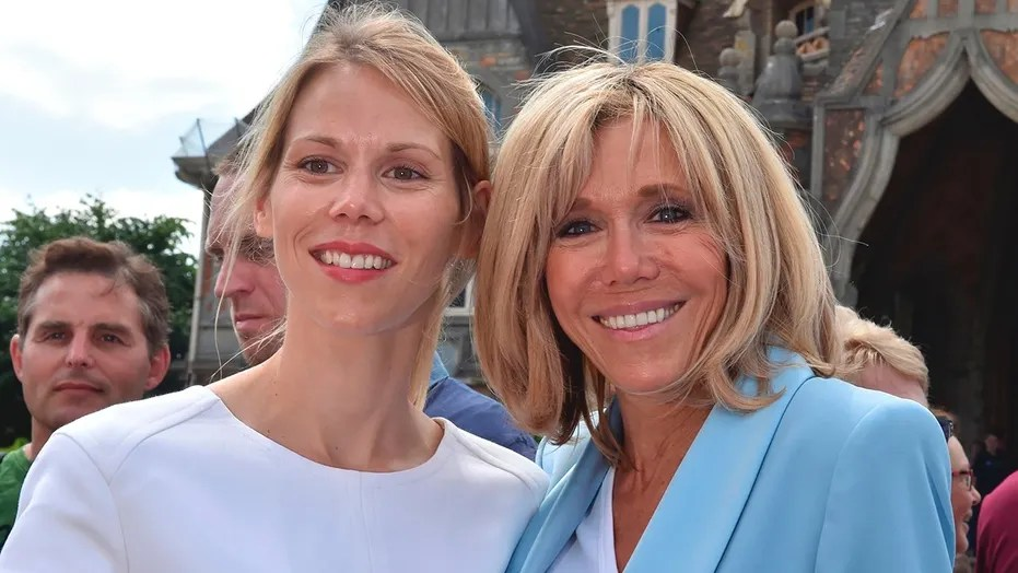 Tiphaine Auziere [left] opens up about her mother Brigitte Macron's [right] relationship with French President Emmanuel Macron.