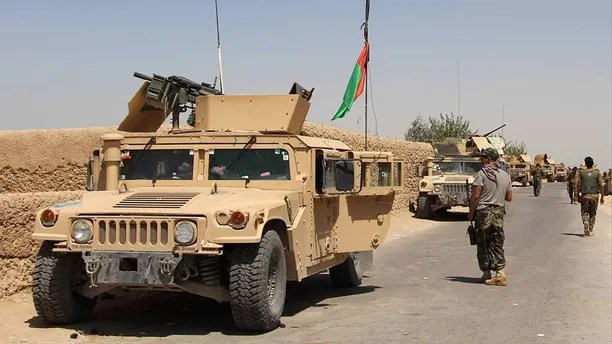 Afghan National Army (ANA) troops arrive in Nad Ali district of Helmand province, southern Afghanistan August 10, 2016. REUTERS/ Abdul Malik - S1BETUQLRGAA
