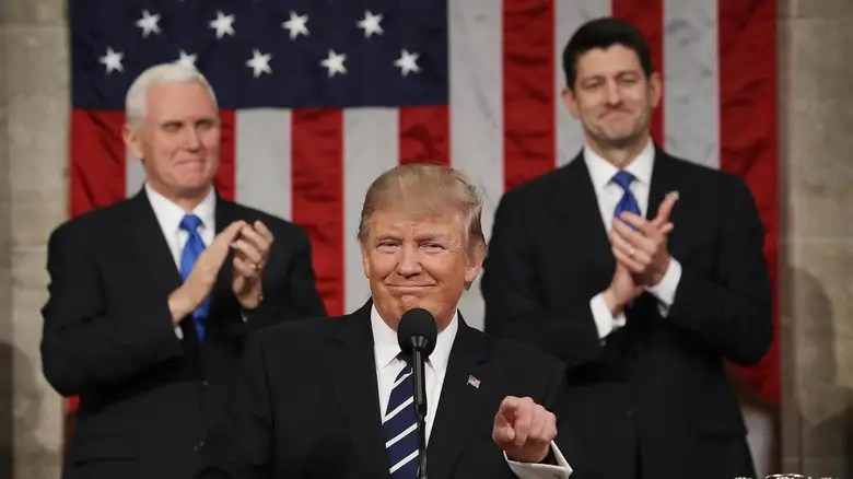 Image result for photos of president trump at speech 2/28