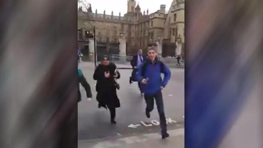 Raw video of terror attack outside British Parliament