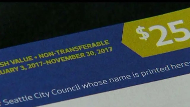 Only 4 percent of the vouchers have been returned