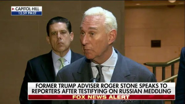 Roger Stone speaks after testifying on Russian meddling ...