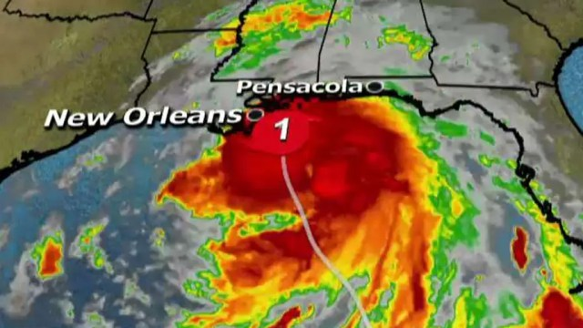 Fourth major storm in two months lands as category 1 hurricane.