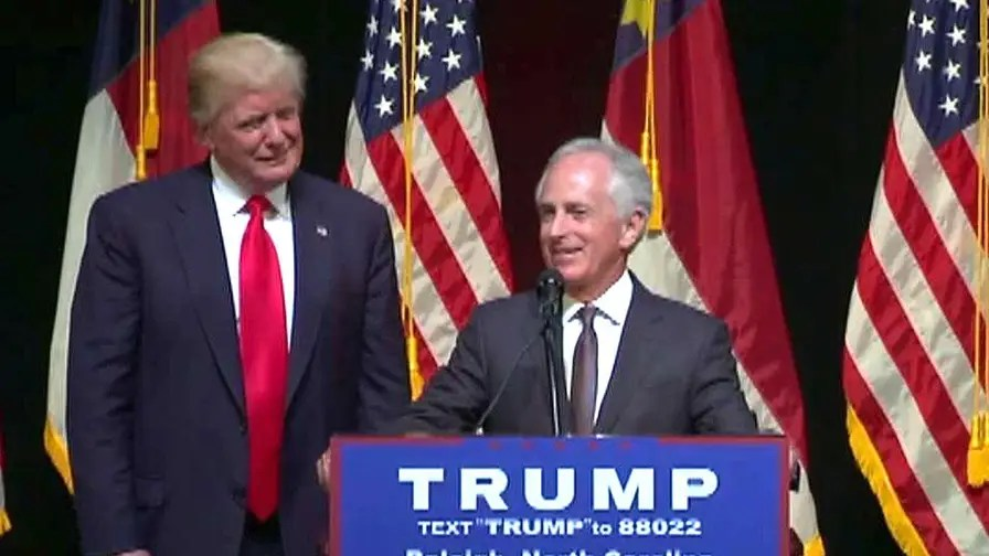 Image result for photos of bob corker and trump