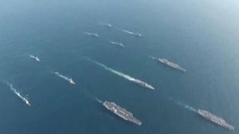 3 US Navy aircraft carriers operate off Korean Peninsula