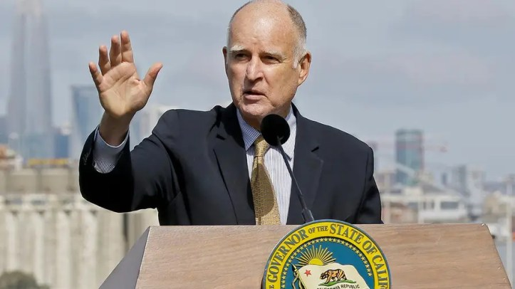 The California governor announcing he granted 132 pardons this holiday season, two of them immigrants awaiting deportation for committing crimes in the U.S.; Will Carr reports from Los Angeles.
