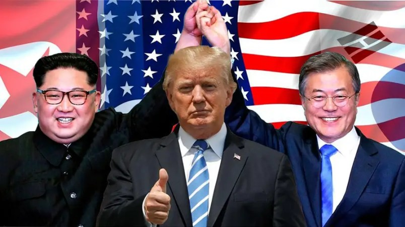 Image result for trump with nobel peace prize on No. Korea