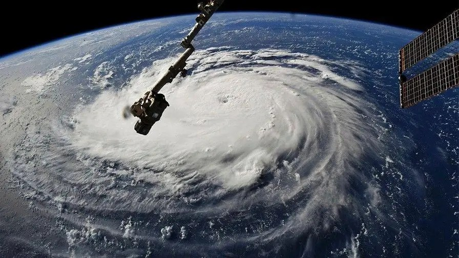 NASA has posted a stunning video of Hurricane Florence from the International space station as it continues to barrel towards the Carolinas.